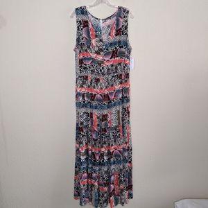 """NWT"" NY Collection Print Maxi Dress"